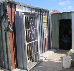 A rebuilt shack in Sheffield Road reserve.