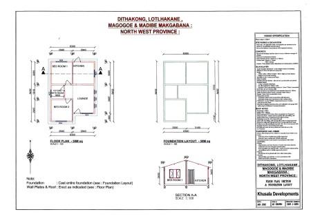 Mafikeng House Plan