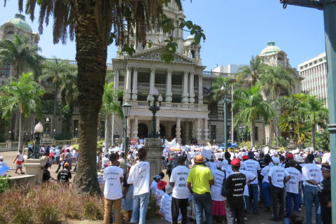 At Durban City Hall