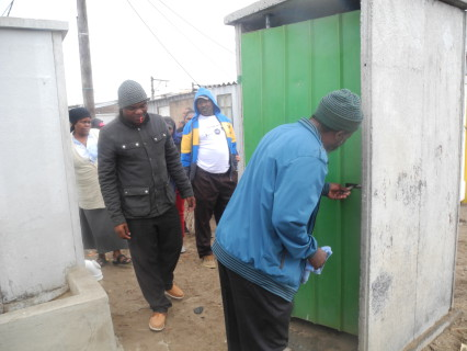 Inspecting the water and sanitation services provided by the City