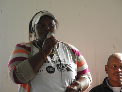 Word of welcome by Tamara Hela, Community Leader from UT Gardens Khayelitsha