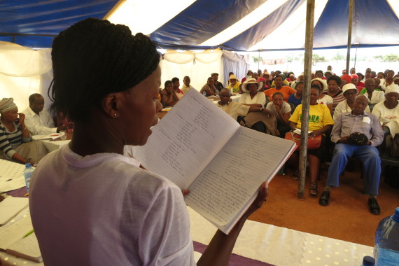 Savings report back to more than 150 savers gathered in Mafikeng.