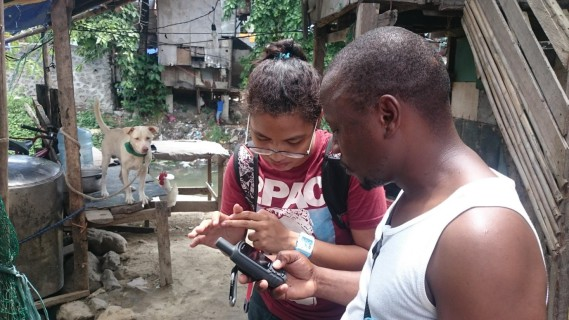 Figure 16: GPS mapping in dense settlements of Allabang.