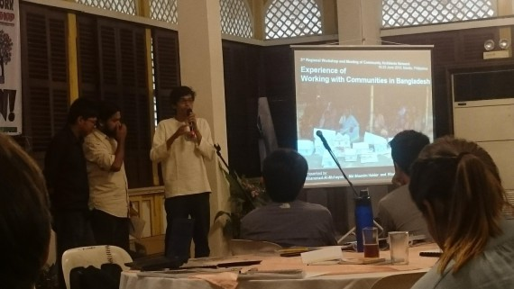 Figure 6: Bangladesh CAN delegates presenting.