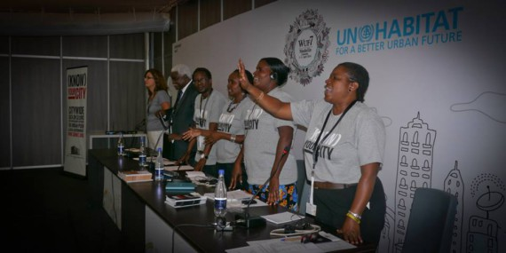 SDI start a session at World Urban Forum 7 with Alliance anthem