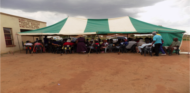 FEDUP members gather for a savings meeting in Kwa-Ndebele.