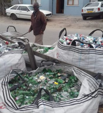 Recyclable waste that is collected by pickers of the solid waste network.